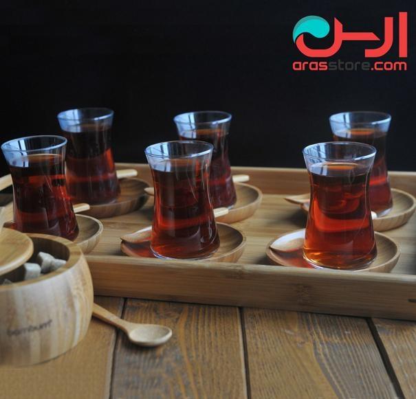 ست 22 پارچه چای بامبوم مدل : gala
