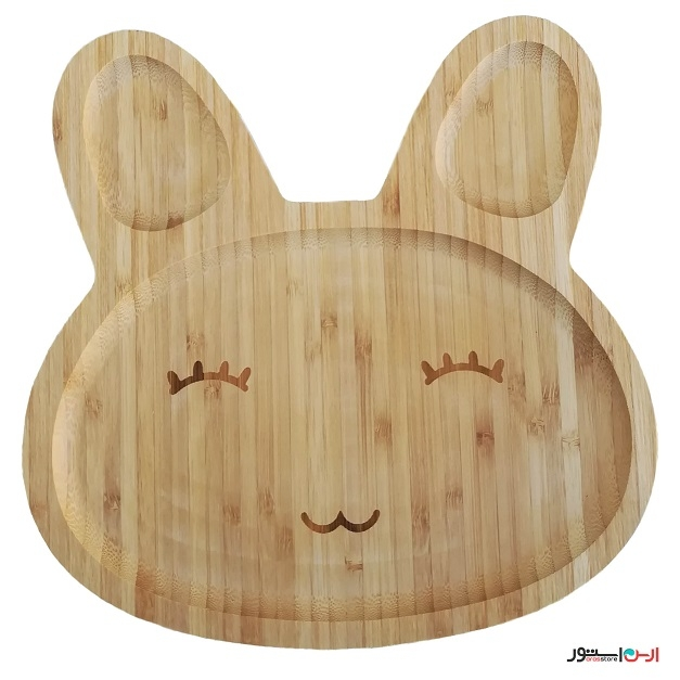 ظرف کودک بامبو مدل خرگوش
