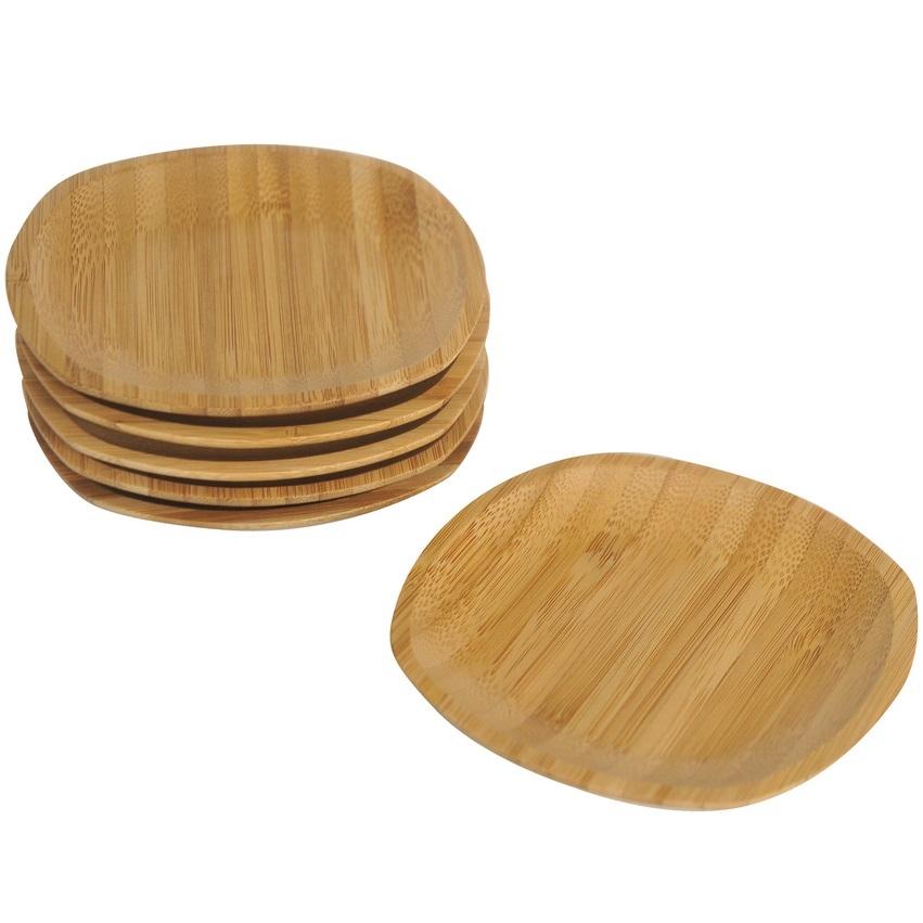 نعلبکی 6 تایی مربعی بامبو برند بامبوم