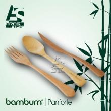 ست 3 تایی قاشق و چنگال و کارد بامبوم مدل: panforte