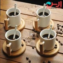 ست قهوه خوری بامبوم مدل:naturelle