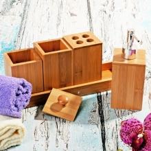 ست حمام چوبی بامبوم مدل کوزووا