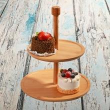 کیک خوری دو طبقه دایره