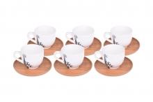 ست فنجان چایخوری 6نفره بامبوم مدلLORDI