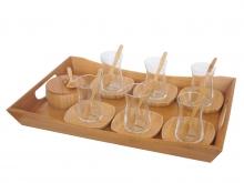 ست 22 پارچه چایخوری بامبوم مدل favori