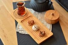 سینی چای بامبوم34سانتی متر مدلserra