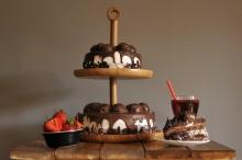 جا کیکی و میوه ای دو طبقه بامبوم مدل: gusto