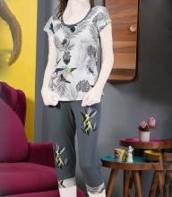 تاپ و شلوارک زنانه مارک سکسن کد 02201