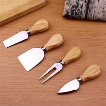 ست کارد پنیر خوری دسته چوبی چهارتایی